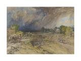 Dust Storm Coming On  Near Jaipur Rajputana  1863