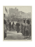 Princess Louise Presenting New Colours to the Argyll and Sutherland Highlanders at Edinburgh Castle