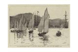 The Mediterranean Fleet at Sigri  the Annual Regatta  Start for the Admiral's Cup