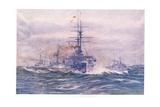 Battleships of the White Era at Sea  1915