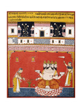 A Page from a Dispersed 'Ragamala: Khambavati Ragini' (Garland of Musical Modes)