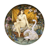 A Minton Earthenware Large Tazza  Depicting Leda and the Swan  (Earthenware)