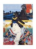 Portrait of Kabuki Theatre Actress