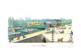 Visitors at the Jardin De Plantes  Paris  from 'De Paris a Douvres' by Roger Bookem  1822
