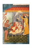 Rama and Sita Enthroned  Adored by Hanuman; Lakshmana Holds a Morchal  C1780