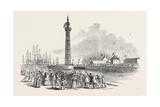 Her Majesty's Visit to Hull and Grimsby: the Fairy Steamer Entering Grimsby Dock 1854