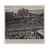 Admiral Dewey in Colombo  the Admiral Thanking Colonel Savage for the Guard of Honour