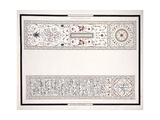 Specimens of the Mosaics  from the Tomb of the Emperor  C 1815 (Pencil  Pen  Ink  W/C)