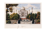The Taj Mahal from the Garden  C1840 (Pen and Grey Ink  W/C  Heightened with Touches of White )