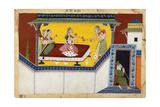 Kaikeyi  King Dasaratha's Second Queen  Rewarding the Hunchback Maidservant Manthara  C1690-1700
