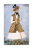 Portrait of a Persian Dignitary  C1640-1660 (W/C and Gold Paint on Paper)