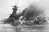 Explosions on Board the Ironclad 'Admiral Graf Spee'  at Montevideo  1939