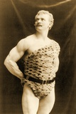 Eugen Sandow Wearing Leopard Skin  in Classical Ancient Greco-Roman Pose  C1894