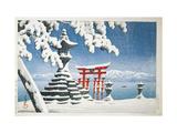 Gate of a Snowcapped Shrine  Itsukushima Shrine  Hiroshima  Honshu Island  Japan