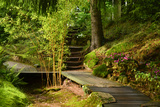 The Way to the Meditation Hall (Dojo) in the Garden of Zen Temple Ryumonji