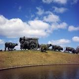 The Carreta  1934  Bronze Monument by Jose Belloni (1882-1965)  Parque Batlle  Montevideo  Uruguay