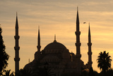 Turkey Istanbul Blue Mosque 17th Century Classical Ottoman Style Sunset