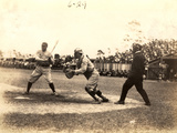 Babe Ruth Plays Ball During an Exhibition Game at Miami Field  March 16  1920