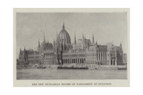 The New Hungarian Houses of Parliament at Budapest