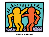 Untitled Pop Art Reproduction d'art par Keith Haring
