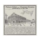 Advertisement  Palace-Hotel Des Champs-Elysees