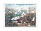 Battle of Pea Ridge  Arkansas  Pub Kurz and Allison  1889