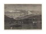 Shooting Grebe on the Lake of Geneva