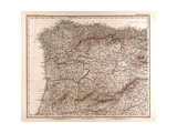 Map of Spain  1872
