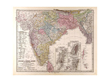 Map of India  1876