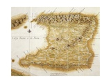 Map of Island of Trinidad  1777  Trinidad and Tobago  18th Century
