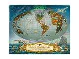 Manuscript Map of the World - Pan American World Airways  C1942