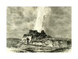 The Castle Geyser in Action 1891 Usa