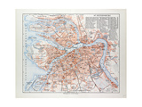 Map of St Petersburg Russia  1899