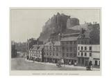 Edinburgh Castle (Military Garrison)  from Grassmarket