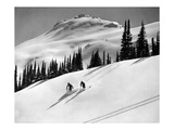 Skiing Beauty on Slopes