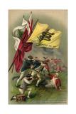 Battle of Bunker Hill with Gadsden Flag  1899