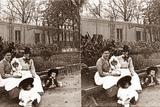 Stereoscopic View of Parc Monceau  Paris  1890