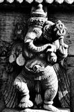 Lord Ganesh Wooden Sculpture  Mysore Temple  Karnataka  India  1985