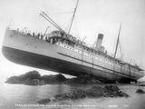 SS Princess May Wrecked on Sentinel Island  Alaska  August 5  1910