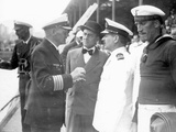 Captain Langsdorff in Negotiations with Argentinian Officials  1939