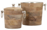 Bergen Wood Bar Bucket Set *