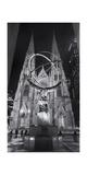 Atlas Statue St Patrick's Cathedral Night Panorama