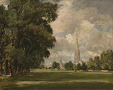Salisbury Cathedral from Lower Marsh Close  1820