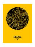 Seoul Street Map Yellow