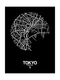 Tokyo Street Map Black