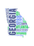 Georgia Word Cloud Map