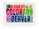 Denver Watercolor Word Cloud