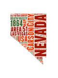 Nevada Word Cloud Map