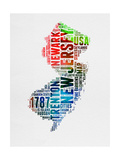 New Jersey Watercolor Word Cloud
