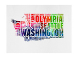 Washington Watercolor Word Cloud